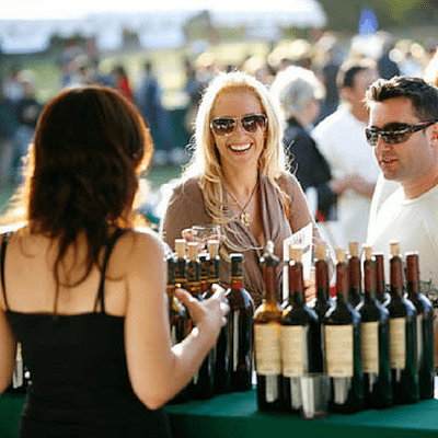 wine tasting at the italian lights festival