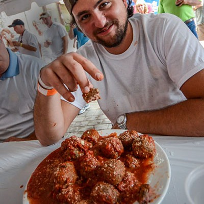 MEATBALL EATING CONTEST