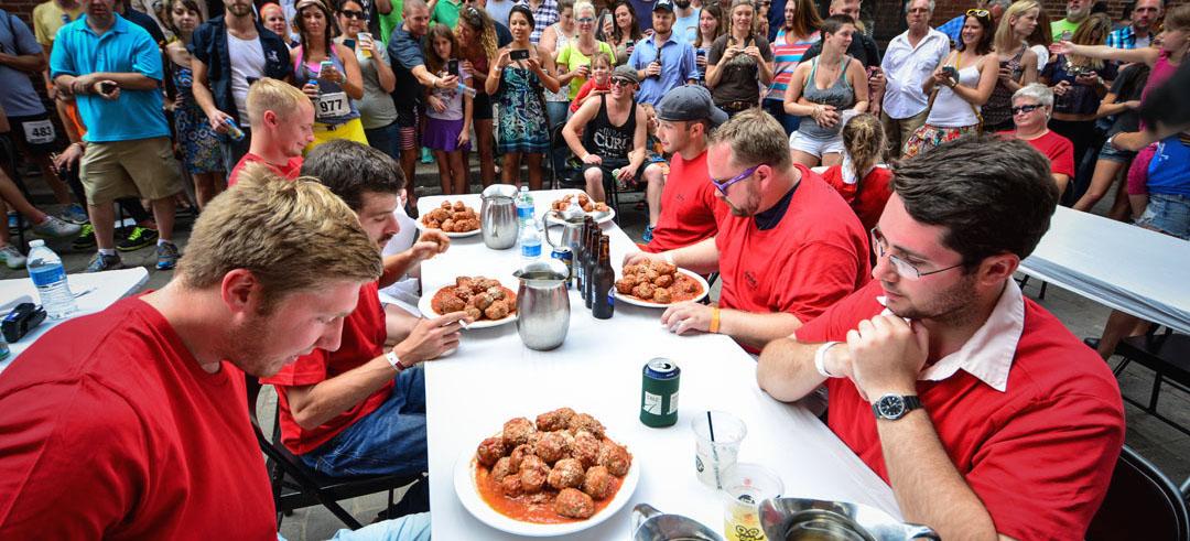 meatball eating contest italian lights festival nashville tennesssee