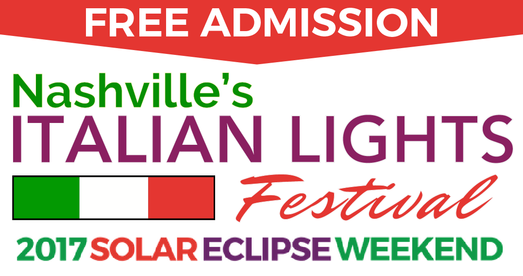 Italian Lights Festival 2017 Solar Eclipse Nashville TN Logo
